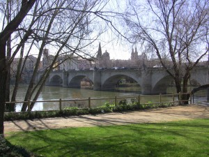 The Ebro river and Logroño